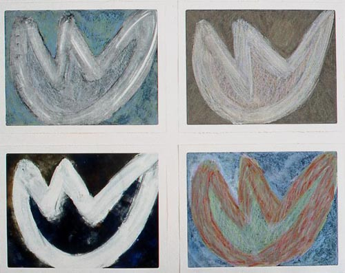 I Fiori II Monotype/pastel Each mounted on 12x16 board 1997/2011