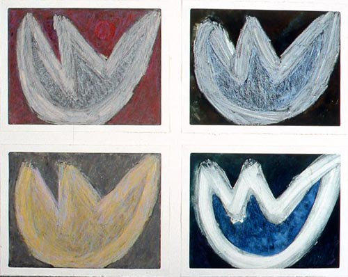 I Fiori Monotype/pastel Each mounted on 12x16 board 1997/2011