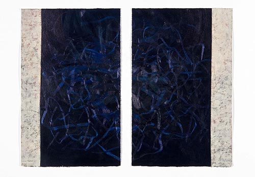 Night Song (diptych) Oil on paper 20x13 ea 2008